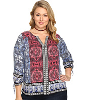 Lucky Brand - Plus Size Long Sleeve with Border