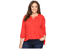 Lucky Brand - Plus Size Lace Front Peasant