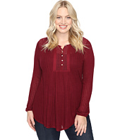 Lucky Brand - Plus Size Drop Needle Knit Top