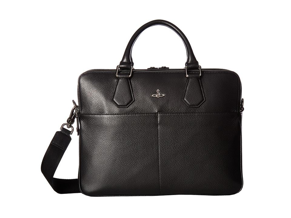 Vivienne Westwood Milano Computer Bag (Black) Briefcase Bags
