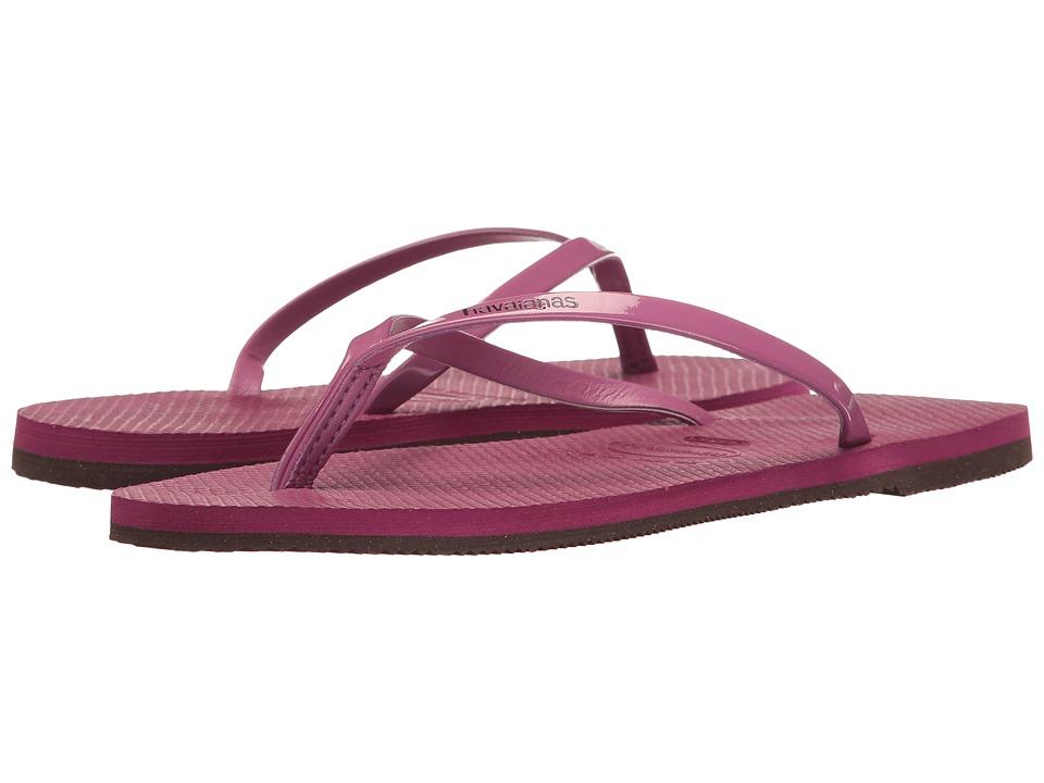 Havaianas You Metallic Flip Flops (Acai) Women