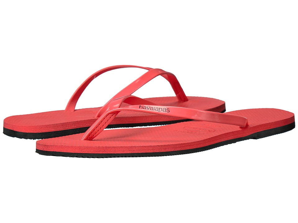 Havaianas You Metallic Flip Flops (Coral New) Women