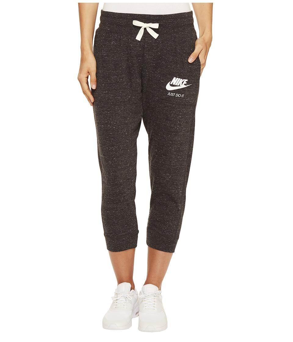 Nike - Sportswear Gym Vintage Capri (Black/Sail) Women's Capri