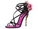 Dolce & Gabbana - Satin Keira Sandal (Black/Rose)