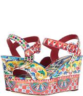 Dolce & Gabbana - Carretto Patent Sandal Platform Wedge