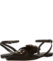 Dolce & Gabbana - Suede Bellucci/Swarovski® Crystal Flat with Ankle Strap