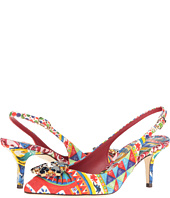 Dolce & Gabbana - St. Brocade Bellucci Slingback with Swarovski Crystals