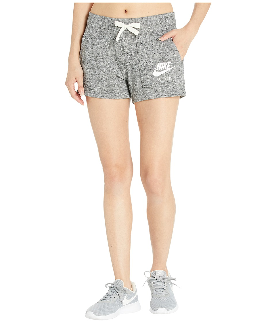 Nike Sportswear Gym Vintage Short (Carbon Heather/Sail) Women