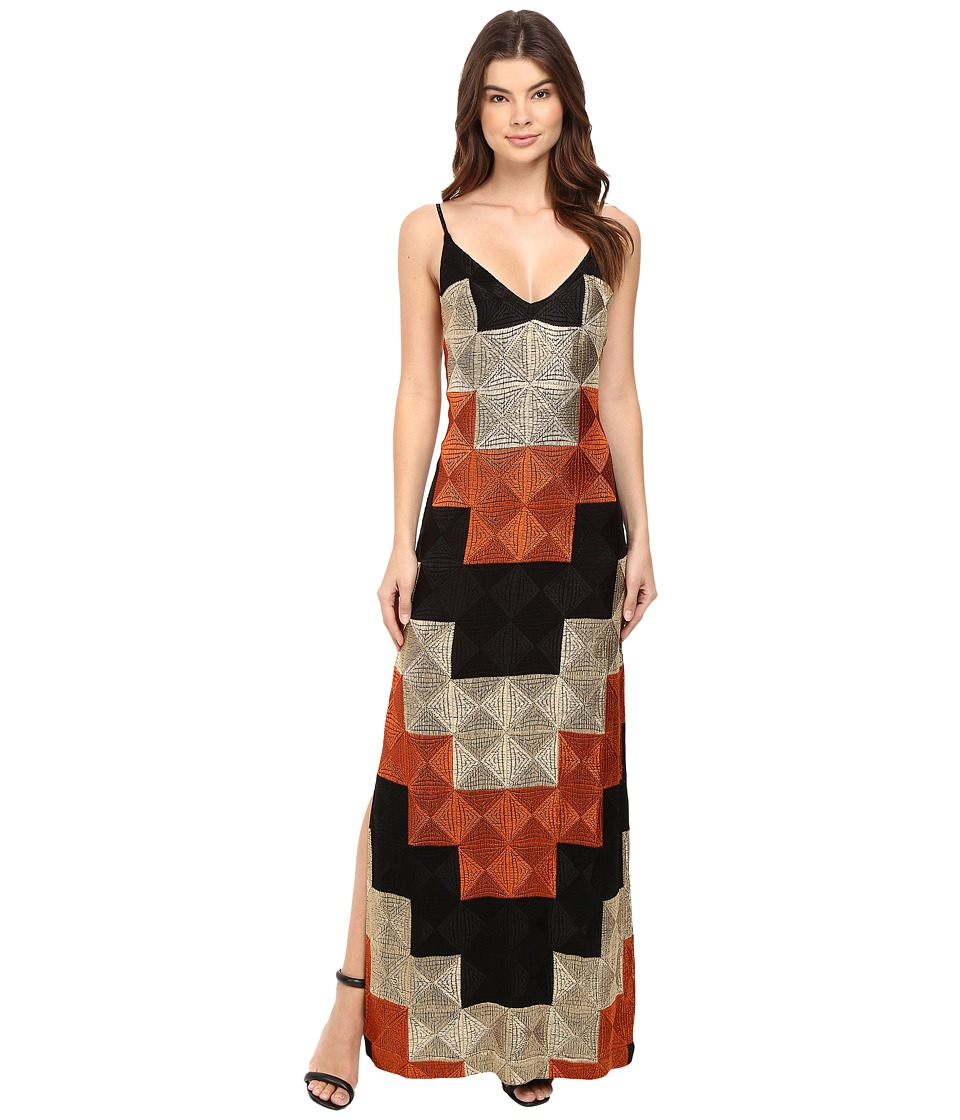 Free People Deco Dreams Embroidered Maxi (Black Combo) Women