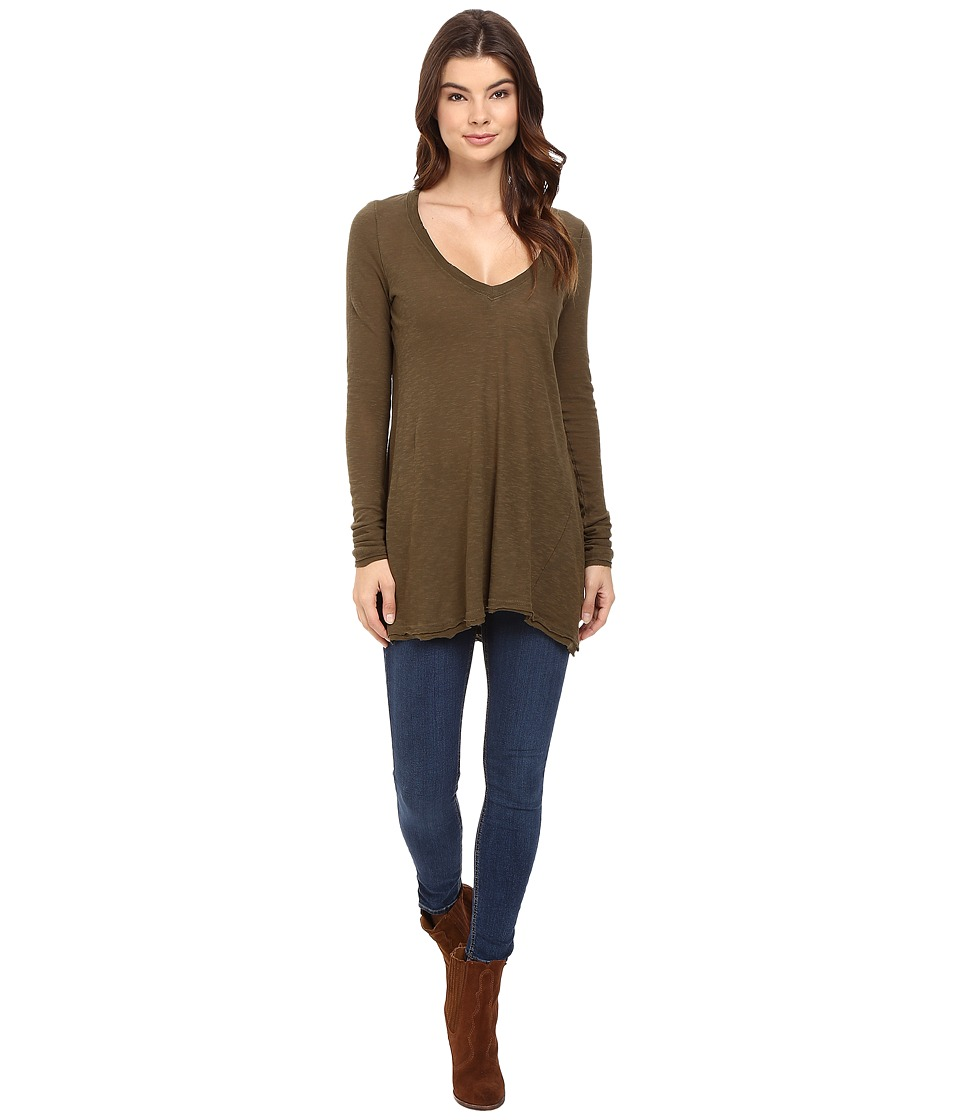 Free People Anna Tee (Olive) Women