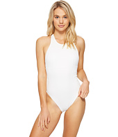 Vince Camuto - Tahiti Texture Cut Out High Neck One-Piece