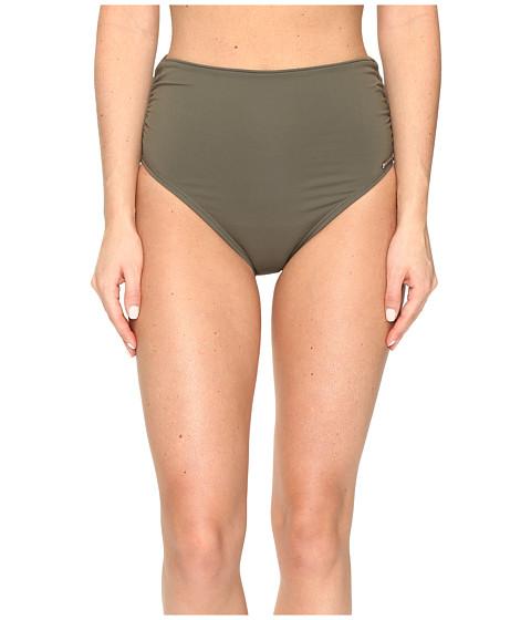 Vince Camuto Fiji Solids Convertible High Waist Bikini Bottom - Dark Sage
