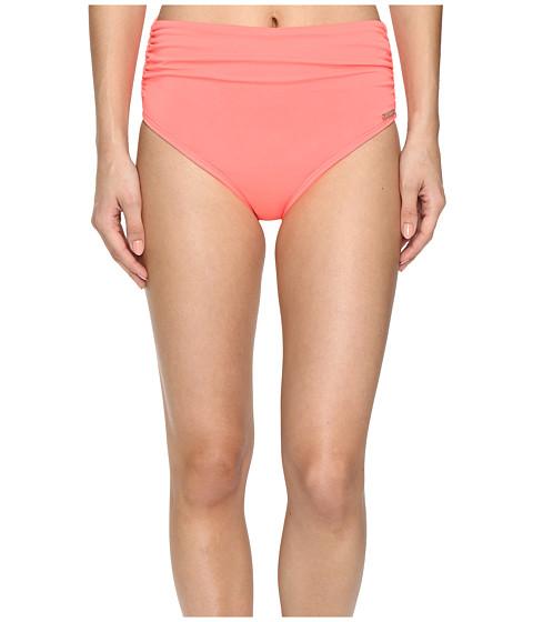 Vince Camuto Fiji Solids Convertible High Waist Bikini Bottom - Pop Coral