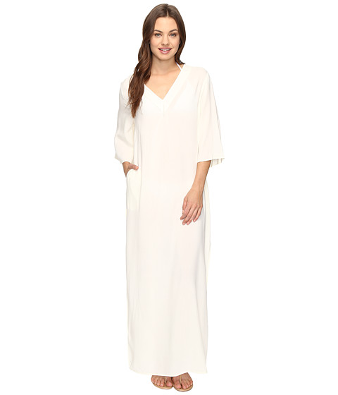Vince Camuto Fiji Solids V-Neck Maxi Caftan Cover-Up - Shell