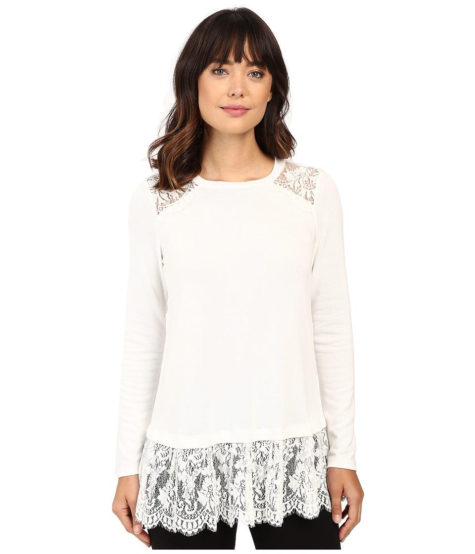 Karen Kane Lace Yoke Inset Sweater (Cream) Women