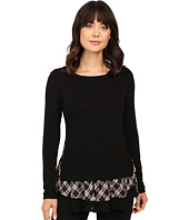 Karen Kane - Plaid Inset Sweater