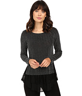 Karen Kane - Metallic Chevron Lace Inset Top
