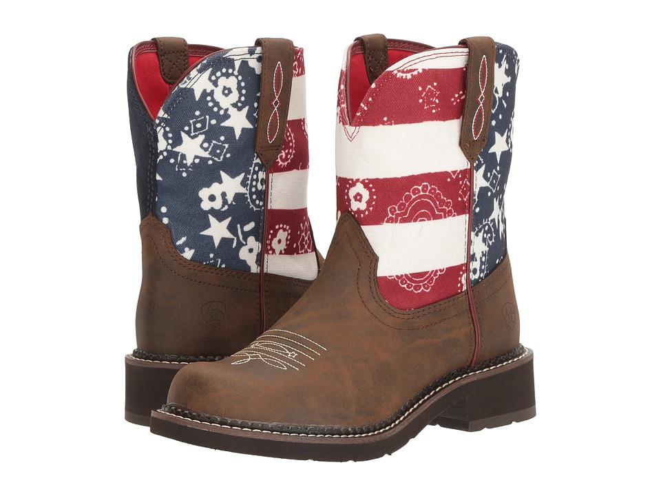 Ariat Fatbaby Heritage (Toasted Brown/Old Glory) Cowboy Boots