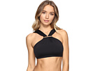 MICHAEL Michael Kors - Villa Del Mar Logo Bar High Neck Bikini Top