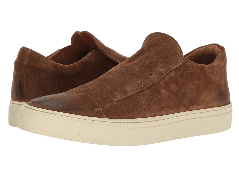 John Varvatos Reed Laceless Low (Brownstone) Men