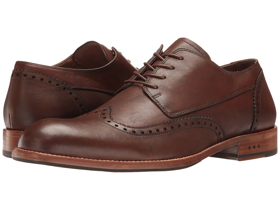 John Varvatos Waverly Wingtip (Dark Tan) Men