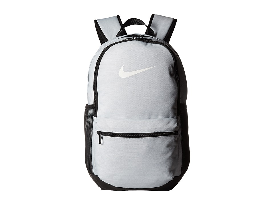 Nike Brasilia Medium Backpack (Pure Platinum/Black/White) Backpack Bags