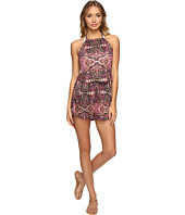 Lucky Brand - Tapestry High Neck Romper Cover-Up