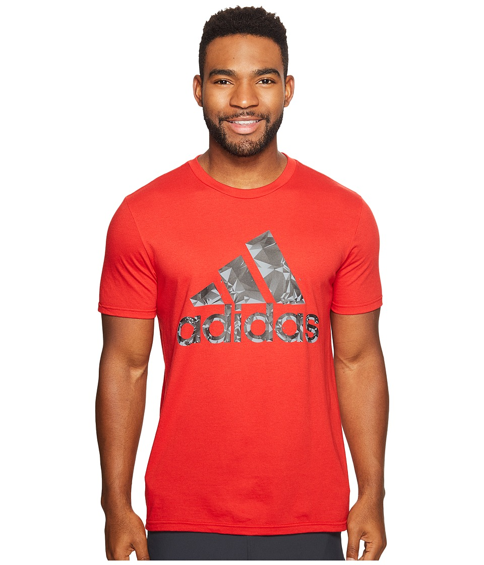 adidas Adi Shatter Tee (Scarlet/Black/Grey) Men