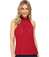 XOXO - Contrast Lace Cut Out Top
