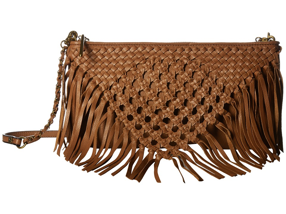 Elliott Lucca Lucca 3-Way Demi (Cognac Macrame) Cross Body Handbags