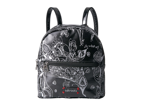 Sakroots Mini Crossbody Backpack - Metallic Songbird