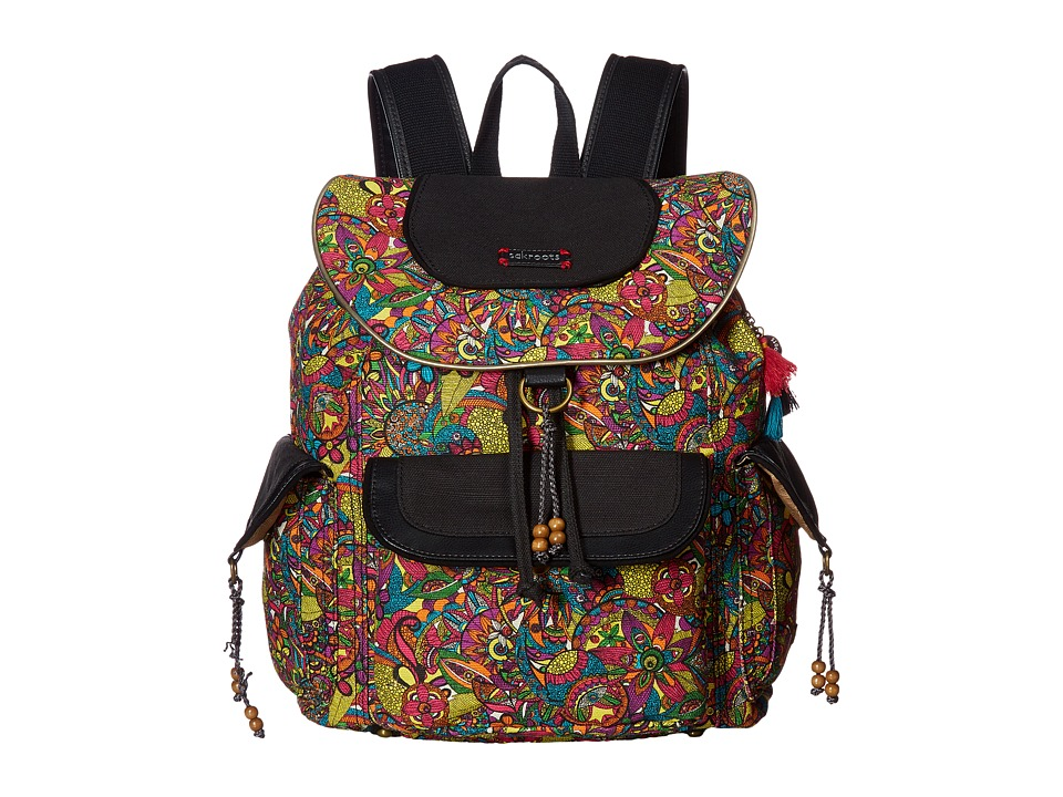 Sakroots - Sakroots Artist Circle Flap Backpack (Rainbow Spirit Desert) Backpack Bags