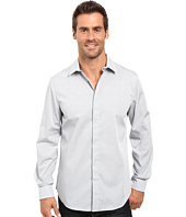 Perry Ellis - Regualr Fit Stretch Horizontal Fine Stripe Shirt