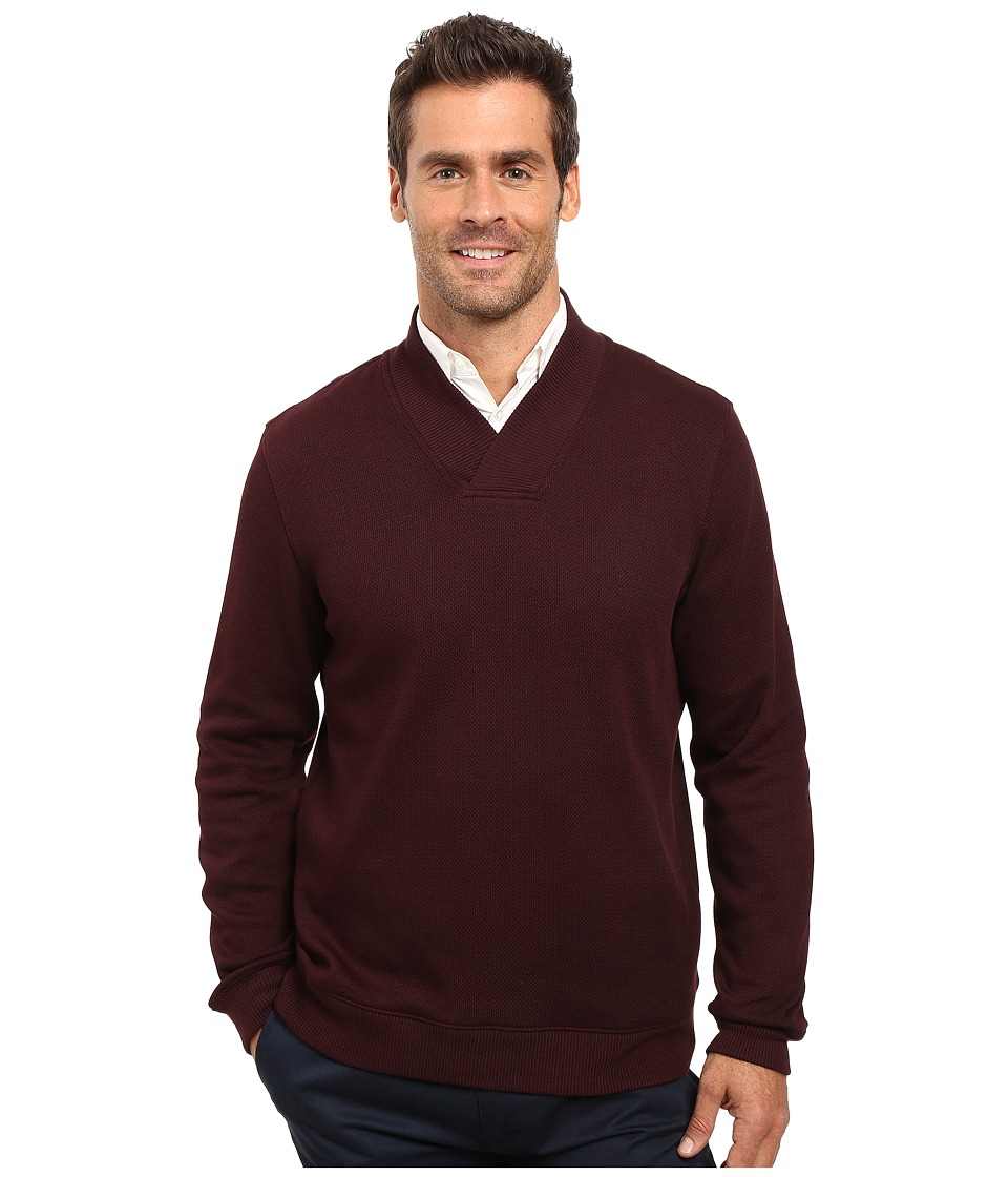 Perry Ellis - Textured Crossover V-Neck