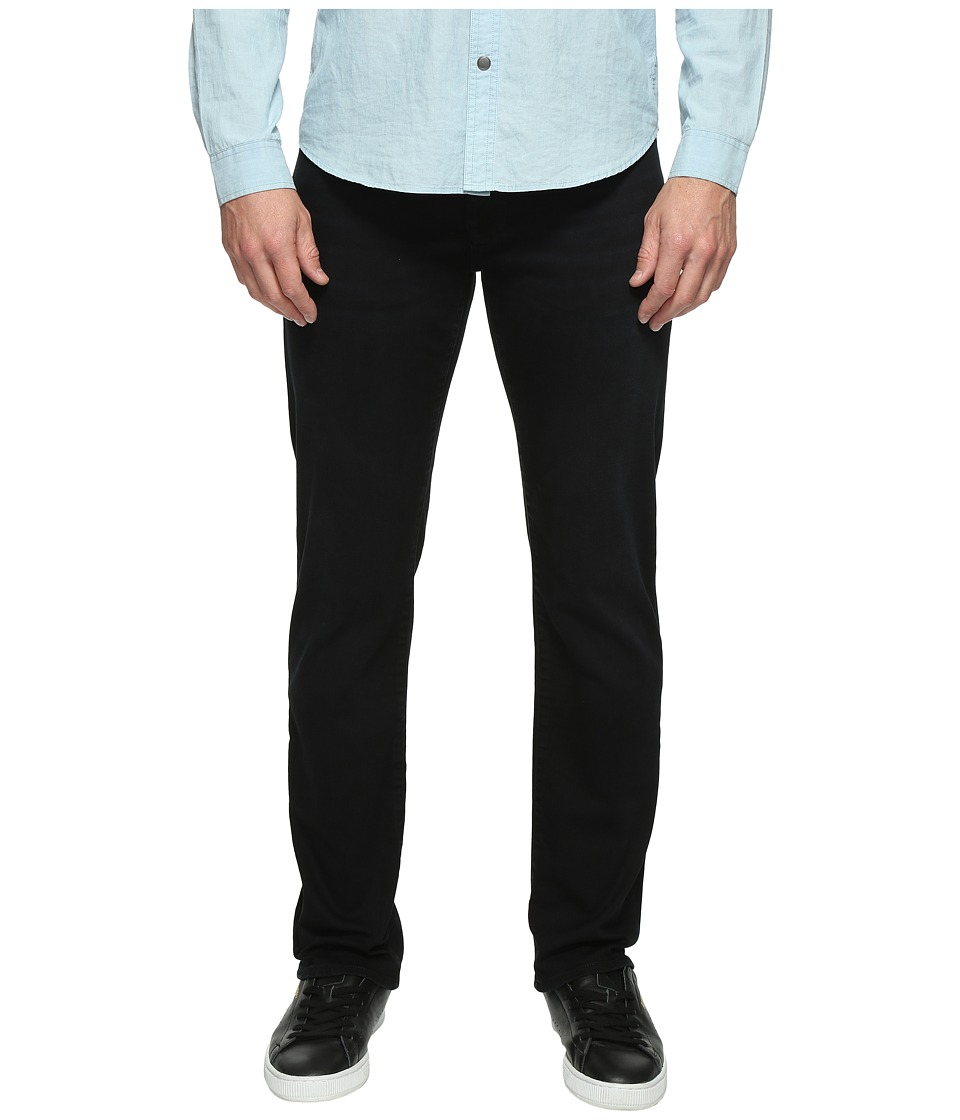 Mavi Jeans Zach Regular Rise Straight Leg in Blue Black Williamsburg (Blue Black Williamsburg) Men