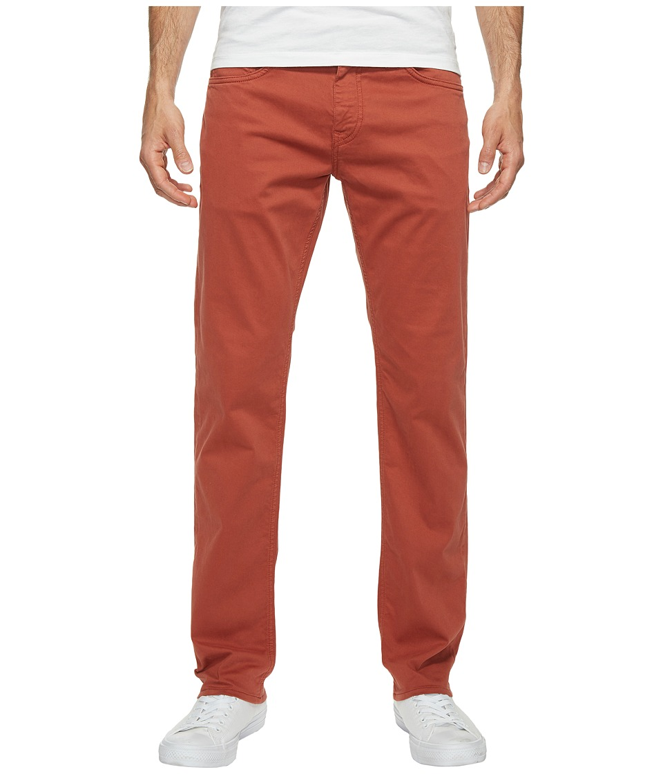 Mavi Jeans - Zach Regular Rise Straight Leg Twill in Brick Red Twill