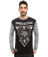 American Fighter - Blue Mountain Long Sleeve Football Crew