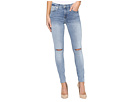 7 For All Mankind - The Ankle Skinny w/ Knee Slits in Cresent Valley