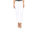 7 For All Mankind Roxanne Ankle w/ Raw Hem in White Fashion