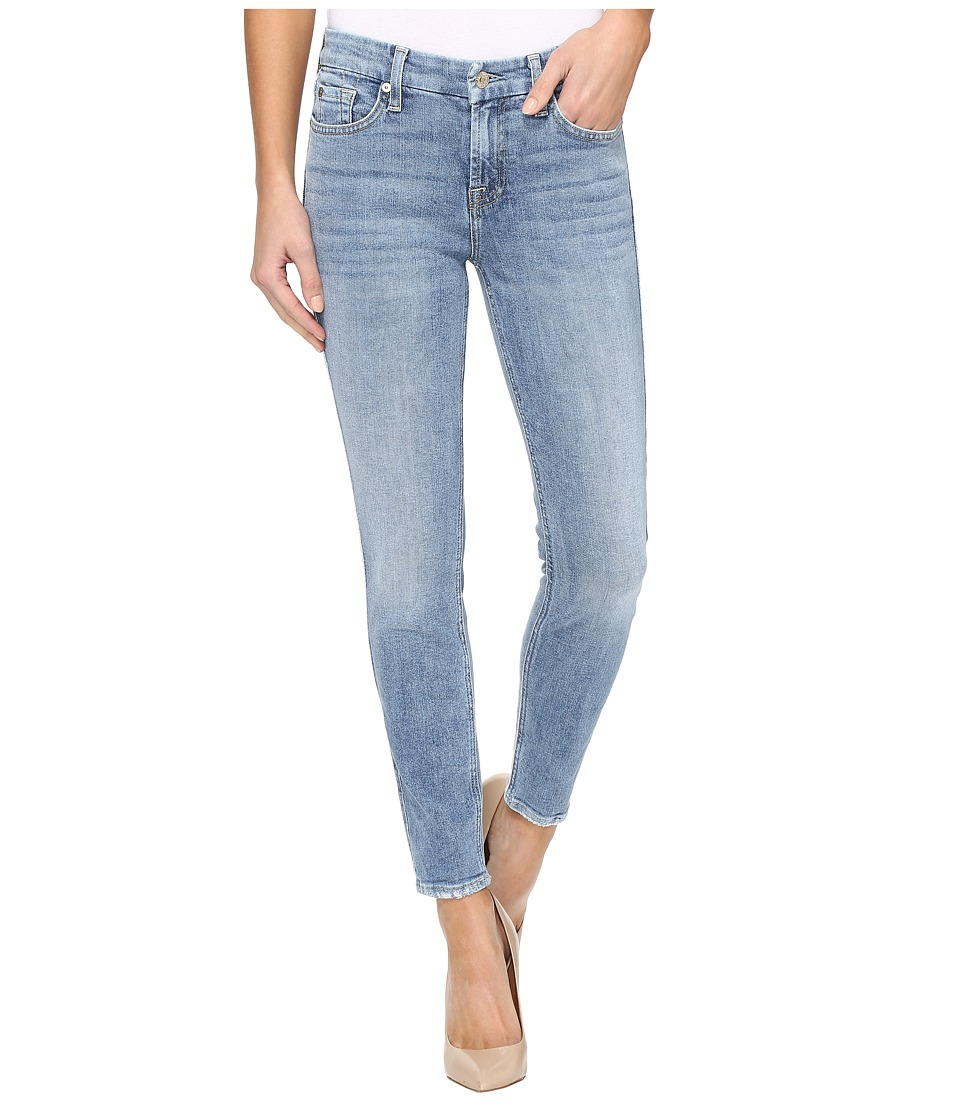 7 For All Mankind The Ankle Skinny w/ Grinded Hem in Gold Coast Waves (Gold Coast Waves) Women
