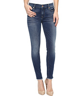 7 For All Mankind - The Ankle Skinny w/ Raw Hem in Rich Coastal Blue