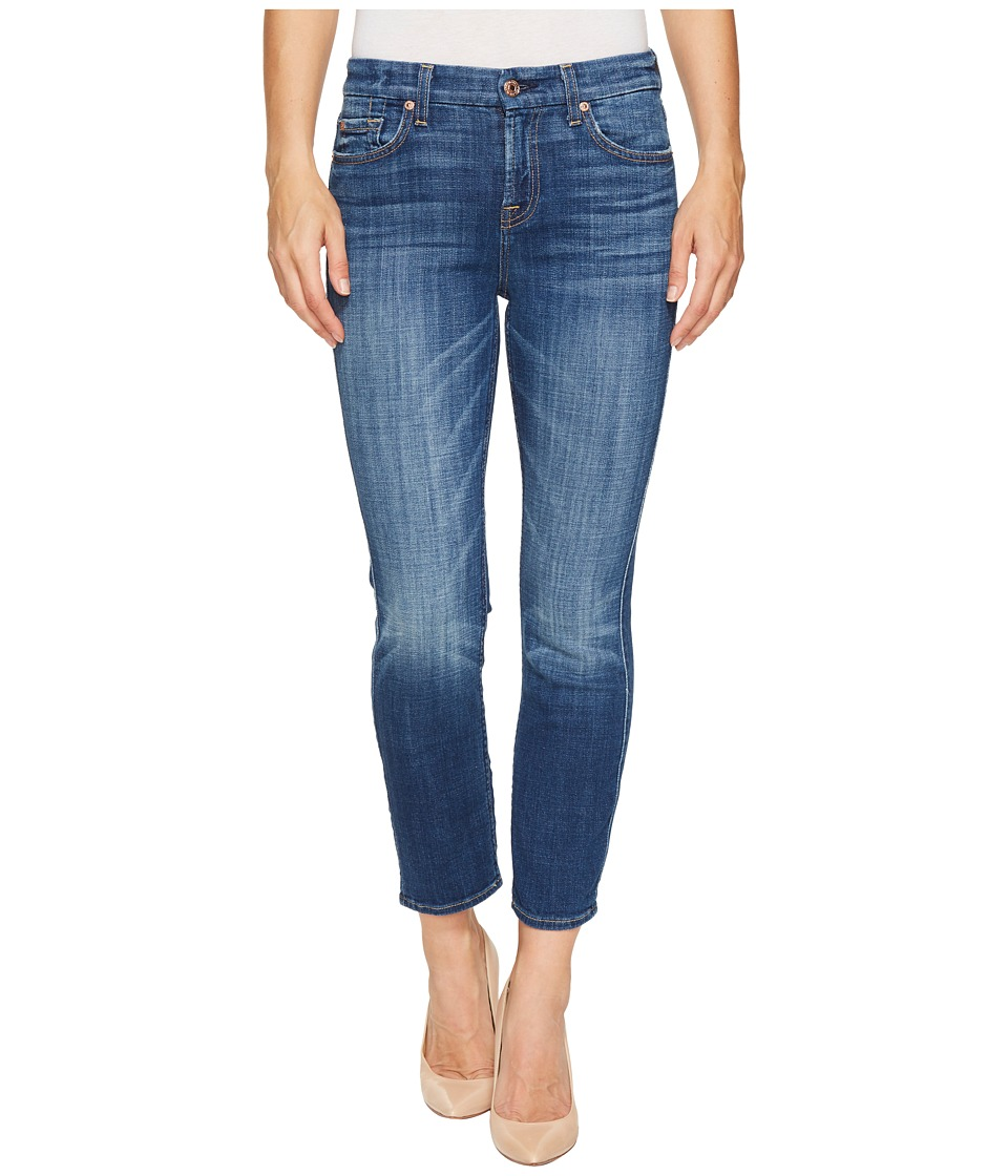 7 FOR ALL MANKIND Kimmie Crop in Barrier Reef Broken Twil...