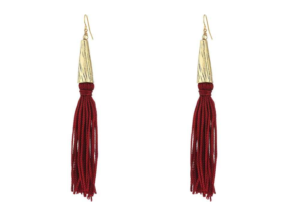 Vanessa Mooney - The Claudette Earrings (Burgundy) Earring