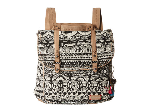 Sakroots Convertible Backpack - Black/White One World