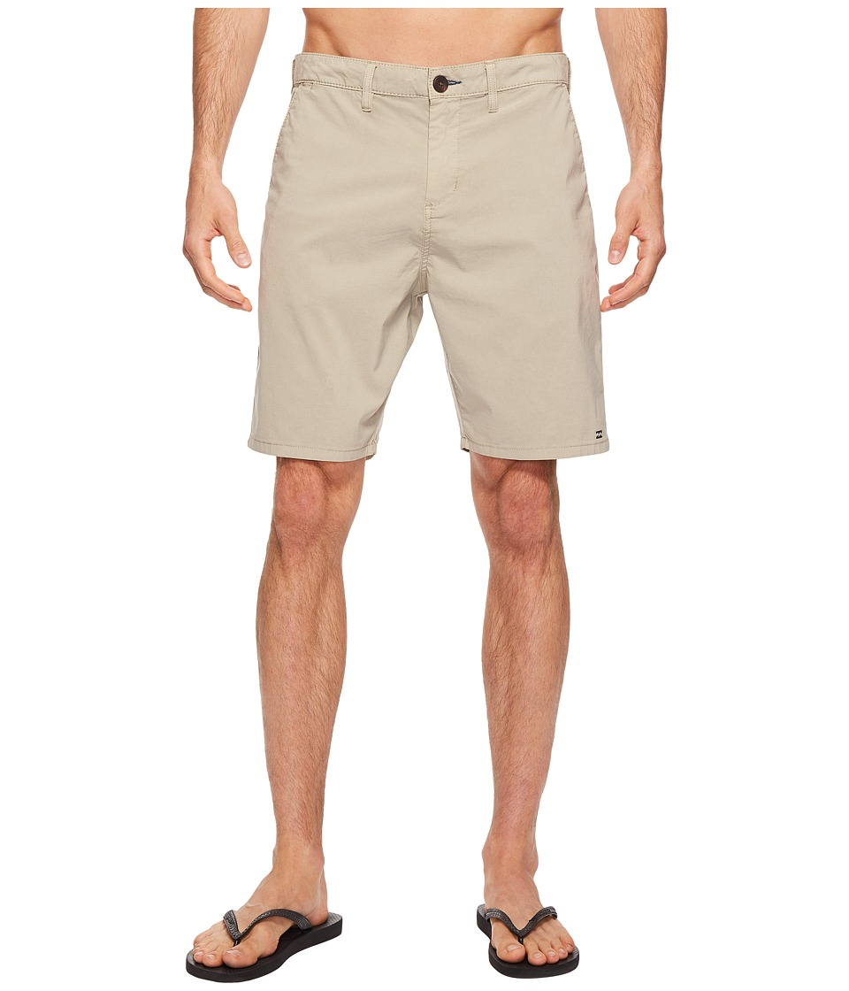 Billabong New Order X Overdye Walkshorts (Light Khaki) Men