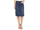 7 For All Mankind - Mini Skirt w/ Released Hem in Eden Port