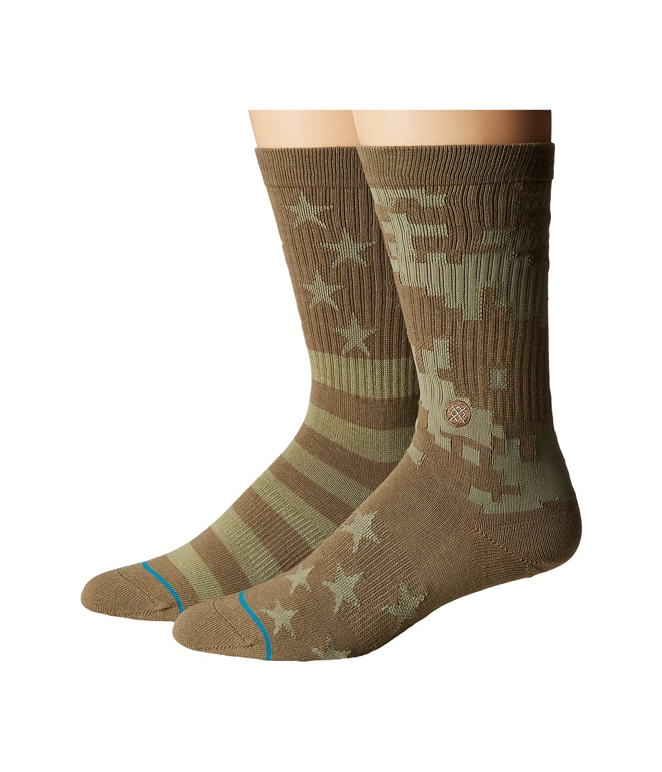 Stance - Base Kamp (Green) Mens Crew Cut Socks Shoes