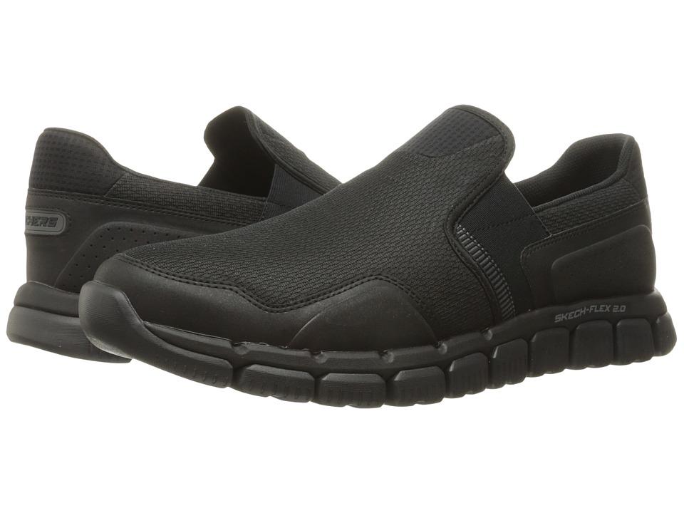 SKECHERS - Skech Flex 2.0 Wentland (Black) Mens Slip on  Shoes
