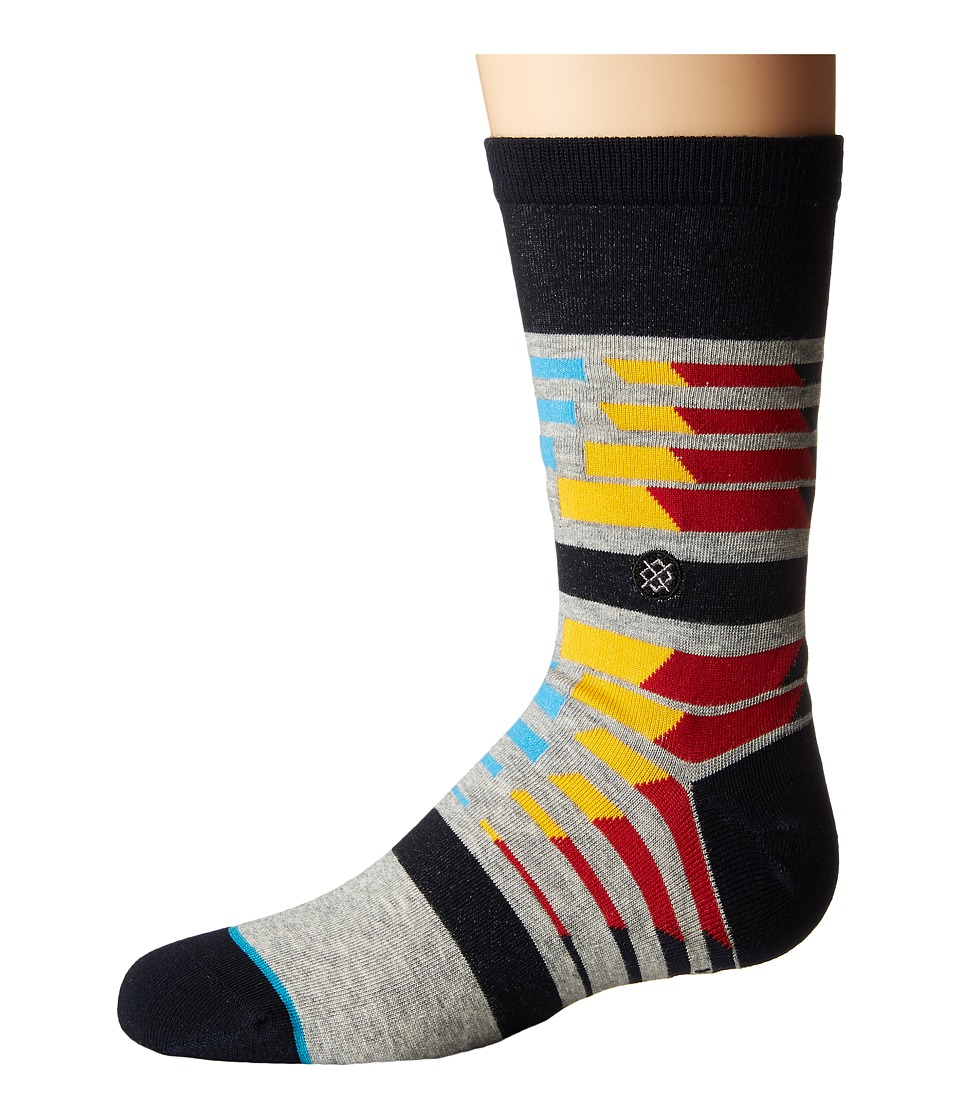 Stance - Spectrums (Little Kid/Big Kid) (Grey) Men's Crew Cut Socks Shoes