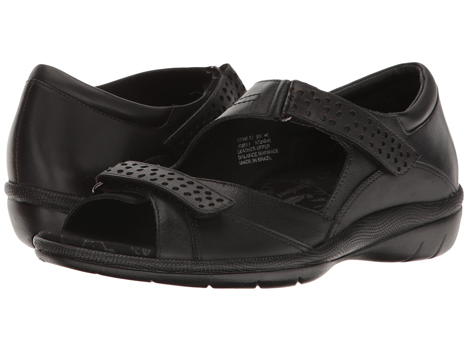 Drew - Bay (Black Leather) Women's Sandals